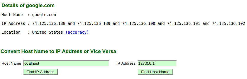 how to convert domain into ip address
