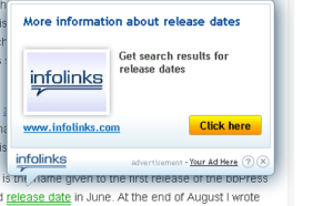intext ads unit of infolinks